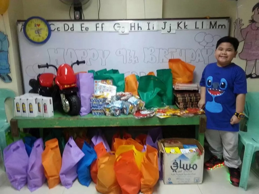 """""""What makes me happy is seeing other kids happy too."""" What this 9-year-old boy does for his birthday is trully heart melting! Find out why!"""