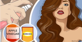 The baking soda and vinegar hair wash can make your hair look gorgeous