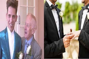 Ex-priest aged 78, marries 24-year-old gay model whom he fell in love with