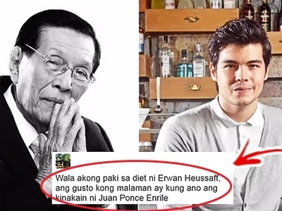 Netizens Are Wondering: What's Up Between Enrile and Erwan? Is a Possible Rift Ensuing?