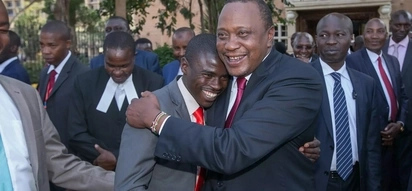 Heartwarming scene as Uhuru meets youngest MP who used public transport to parliament