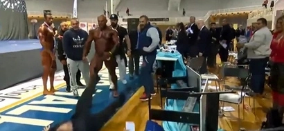 Greek Bodybuilder Goes Crazy From Steroids And Attacks A Judge