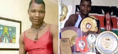Photos of a new and reformed ex- boxing sensation Cojestina Achieng warms Kenyans hearts online