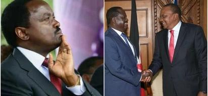 Kalonzo at the mercy of Kenyans after disowning Raila,Uhuru meeting