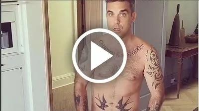 Robbie Williams ¡enloqueció! a sus fans con un nuevo desnudo