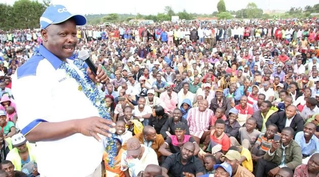 NASA co-principal HOT on Jubilee's heels as he takes his campaigns to a region Uhuru visited days earlier