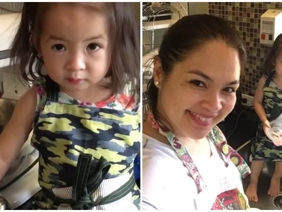 Judy Ann Santos has the most adorable helper in her kitchen as Baby Luna joins her in cooking