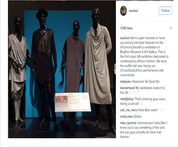 Sauti Sol represent Kenya with their fashion style in the UK