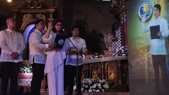 Bong Revilla presides wife's oath-taking ceremony via recorded video