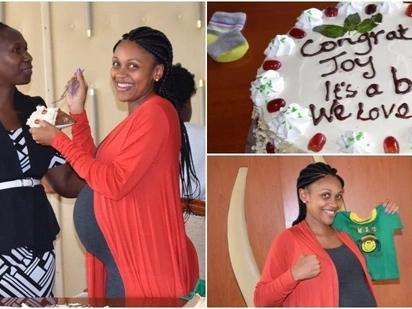 Tazama picha za kutamanisha za sherehe ya Joy Doreen huku akimtaraji mwana