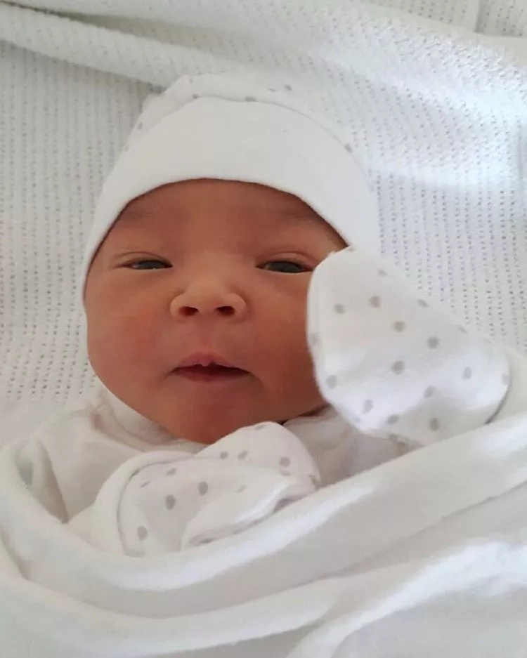 Kiunas welcome their first grandchild, she has exotic names