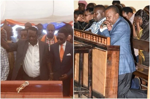 Walinganishe na uwalinganue: Raila kanisani na Uhuru Kenyatta kanisani