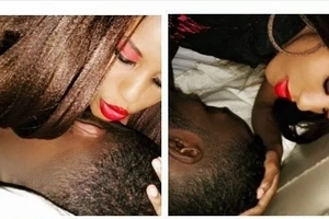 Kenyan TV presenter posts steamy intimate selfies with her man in bed (photos)