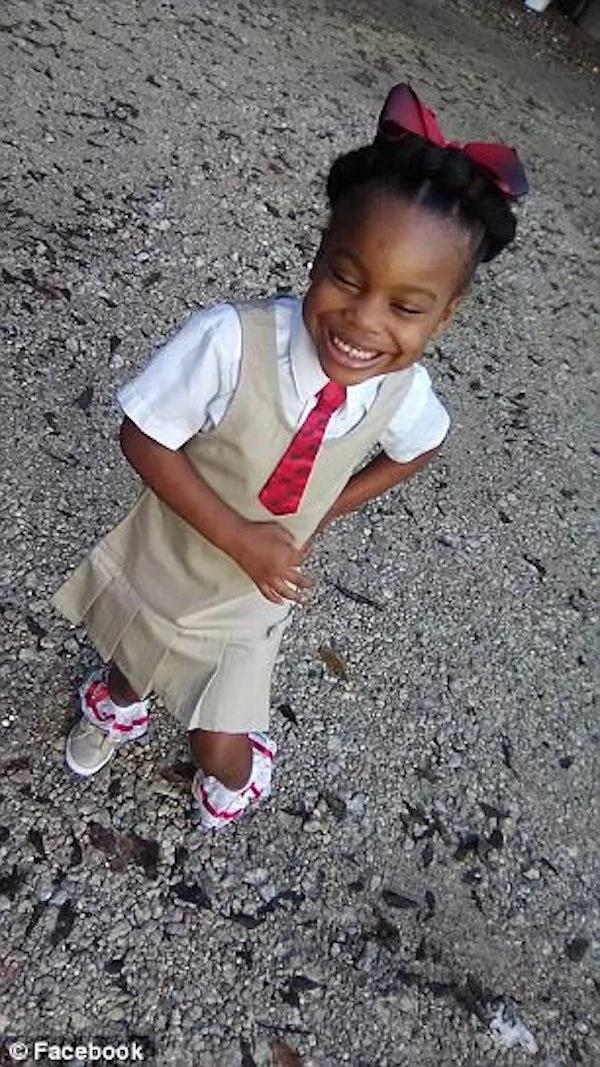 Charle-feign before school. Photo: Facebook/Markeisha Simien