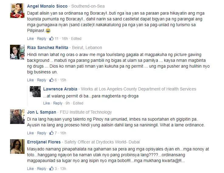 Sinira lang ang pinagpaguran! Netizens slam PNP officers for destroying 'illegal' sandcastles in Boracay