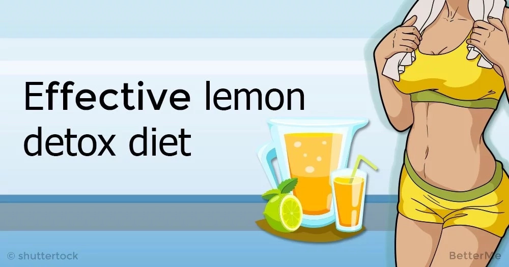 A lemon detox diet is an effective way to help the body flush toxins