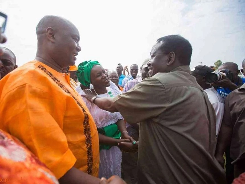 Raila meets Otuoma and Ojaamong after TEARING into each other over Busia top seat