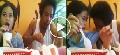 This Pinoy went viral for doing something disgusting to his girlfriend while dining at McDonald's