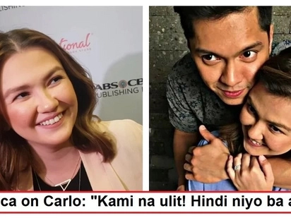 Sila na raw ni Carlo! Angelica Panganiban surprises reporters as she humors them with her witty remarks