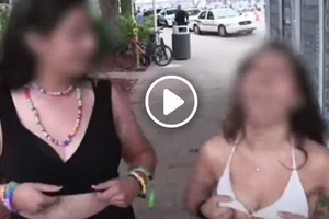 These hotties are asked to flash their boobs for $100. Will they do it?