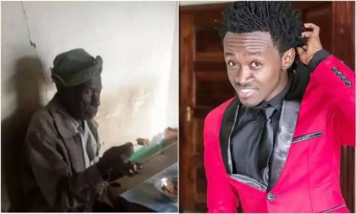 Bahati spotted in the village with his grandpa after being exposed for neglecting the POOR old man (photos)