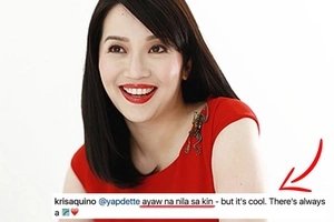 """Ayaw na nila sa'kin"" Kris Aquino's response to a fan who wants her back in ABS-CBN"