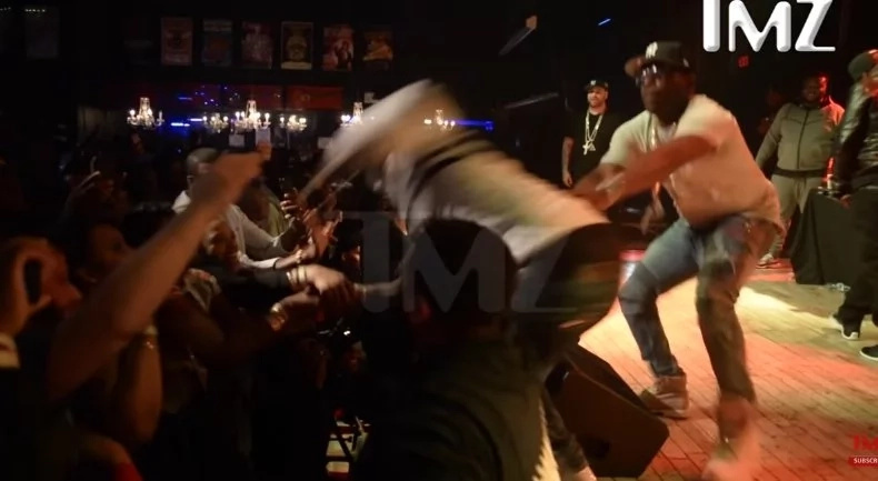 Rapper famous for onstage violence was caught on video PUNCHING a fan at a concert (photos, video)