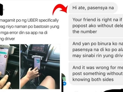 This concerned netizen urging others to be more polite towards Uber drivers apologizes after not learning the whole story