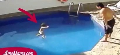 Un hombre que fue filmado arrojando repetidamente a su hijastra en una piscina, fue condenado a 100 años de prisión