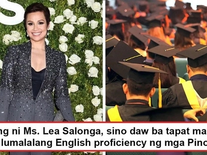 Palala na nga ba? Lea Salonga asks who takes blame for deteriorating English of Pinoy graduates reported lower than required for Dubai taxi drivers