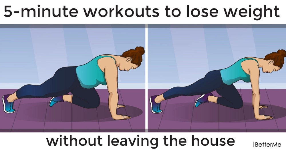 5-minute workouts to lose weight without leaving the house