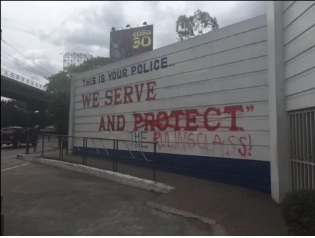Camp Crame's Walls Vandalized