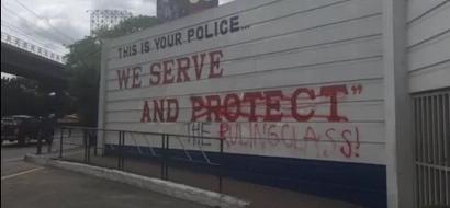 Camp Crame's Walls Vandalized