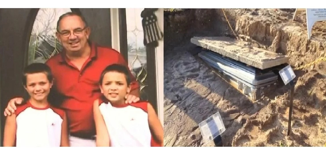 Man's casket completely exposed a day after it was buried! Find out what happened.!