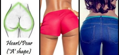 4 shapes of women butts and how to determine yours
