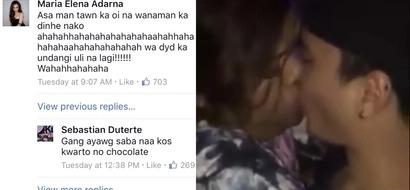 "Iba rin ang taglay na humor ni Baste! Sebastian Duterte and Ellen Adarna poke fun at ""Chocolate"""