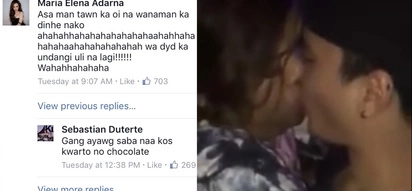 "Iba rin ang taglay na humor ni Baste! Sebastian Duterte and Ellen Adarna poke fun at ""Chocolate"". Let's remind how it was!"