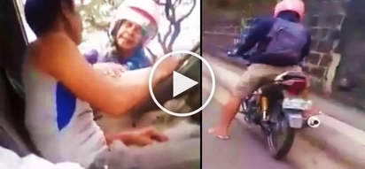 Drunken Pinoy motorcycle rider claiming to be cop bullies scared driver in Manila