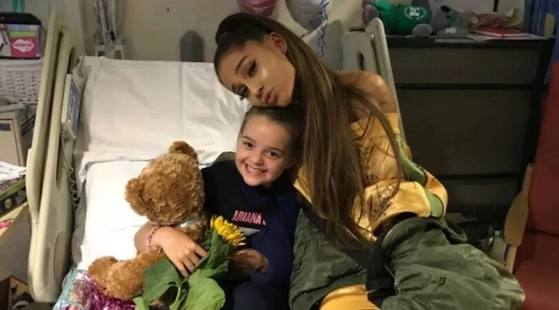 Respect! Machester bombing victims visited by Ariana Grande