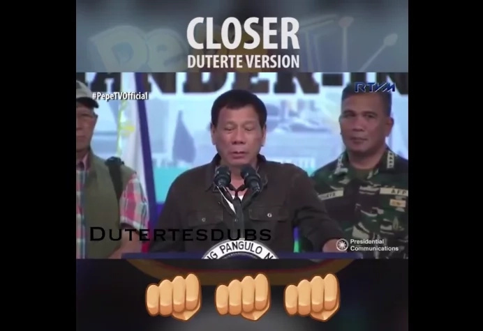 RP Duterte's Closer cover has entertained many Netizens