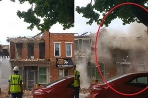 House demolition mistake, watch as next-door building also fell apart in the process