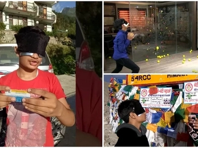 Blindfold wonder boy: Meet boy, 17, who can see with his brain even when blindfolded
