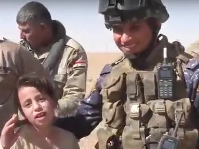 Girl, 10, Is Saved From ISIS fighters Who Murdered Her Dad (Video)