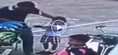 Kawawang bata! Abusive Thai man brutally beats up his little child for making mistake in counting to 10