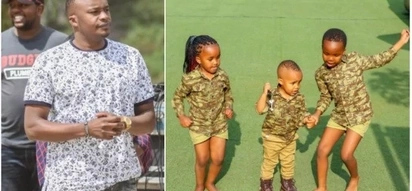 Newly-elected Starehe MP Jaguar wows the internet after sharing adorable photos of his three children together