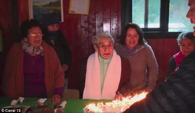 He is pictured at his 120th birthday last year. Photo: Canal 13