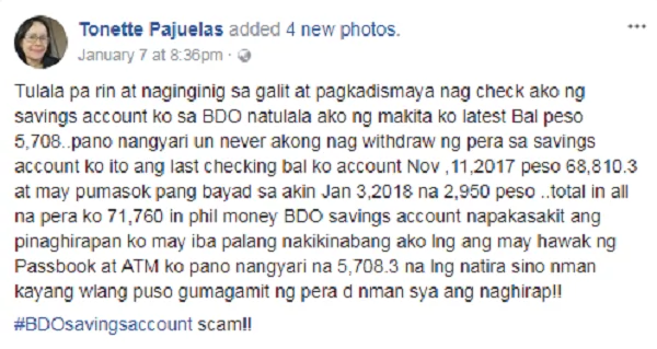 how to make savings account in bdo