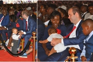 The little playful boy who WOWED women at Gachagua's funeral (photos)