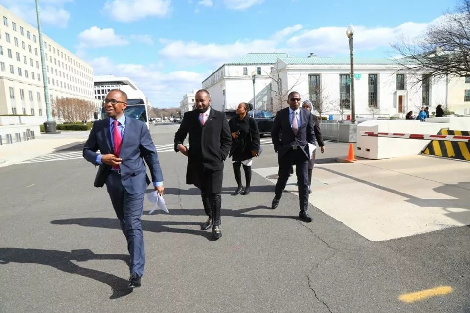 Photos of Joho strolling in the US