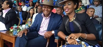 Governor Mutua's wife goes all out to show Kenyan men her fine half-dressed body